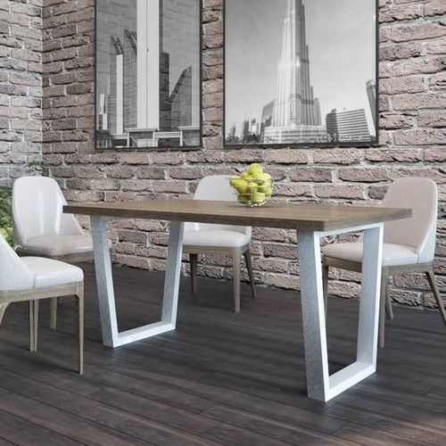 Стол обеденный Бинго натуральный+белый Металл Дизайн