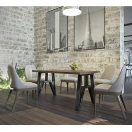 Стол обеденный Прайм натуральный Металл Дизайн