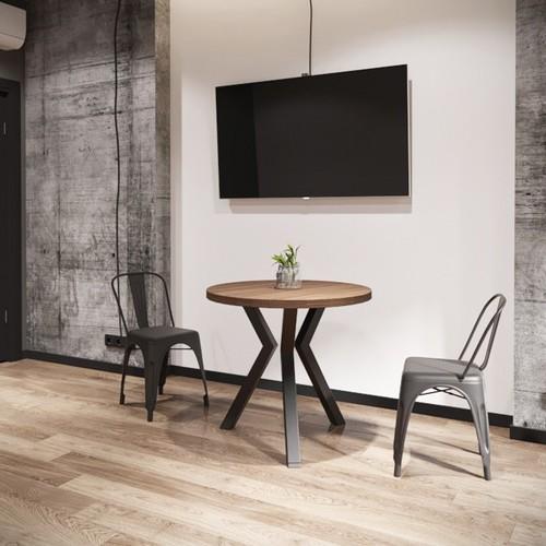 Стол обеденный Свен-3 натуральный Металл Дизайн