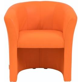 Кресло Бум оранжевое, кожзам (KBR0000017) RICHMAN