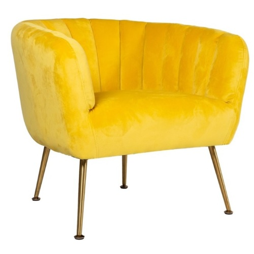 Кресло TUCKER 20152 желтое Evelek 2019