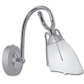 Бра RONDO 0234 серебро+белое Lis