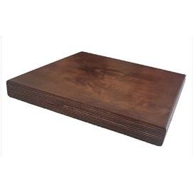 Столешница Аурит квадратная 70 см коричневая Aurit