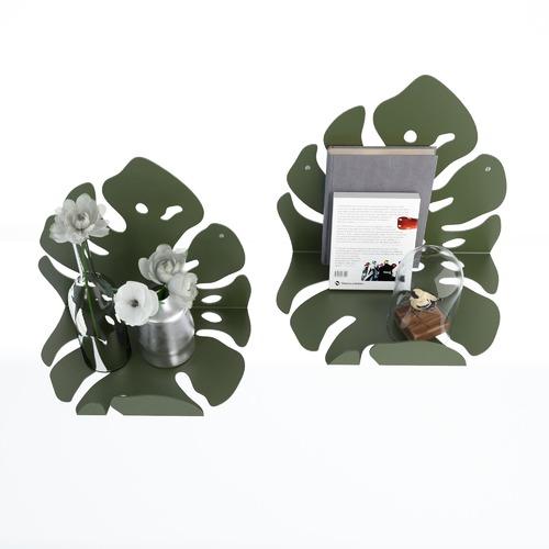 Комплект настенных полок DEWY зеленый Levantin