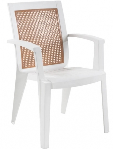 Кресло Сапфир белое PAPATYА