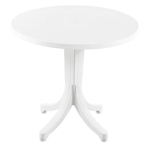 Стол обеденный Фаворит 80 см белый PAPATYА