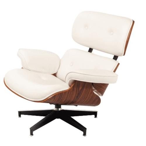 Кресло Eames lounge белое iCOO