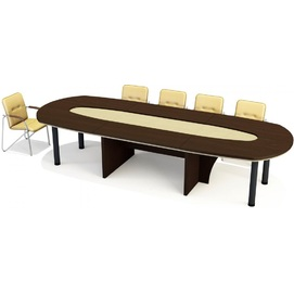 Стол для переговоров Триумф  7/106+7/107+7/106 Венге (360х134х76см)  Sali