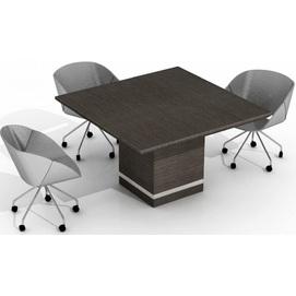 Стол для переговоров Static 27/403 Дуб шато антрацит (130х130х78см) Sali