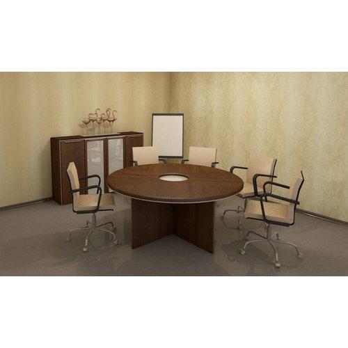 Стол для переговоров Гранд МДФ 24/403+24/403 Орех (200х200х76см) Sali