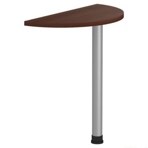 Стол приставной Магистр МГ-302 (72хR36х75) орех темный Famm