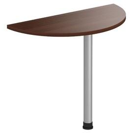 Стол приставной Магистр МГ-303 (90хR50х75) орех темный Famm