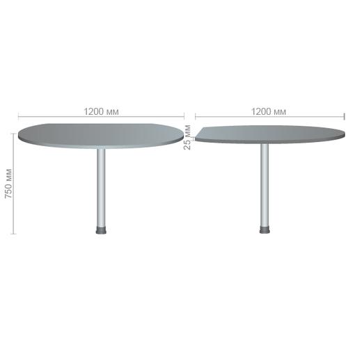 Приставной элемент (брифинг) Уно ST-18 (120х120х75) Вишня 140073 Famm