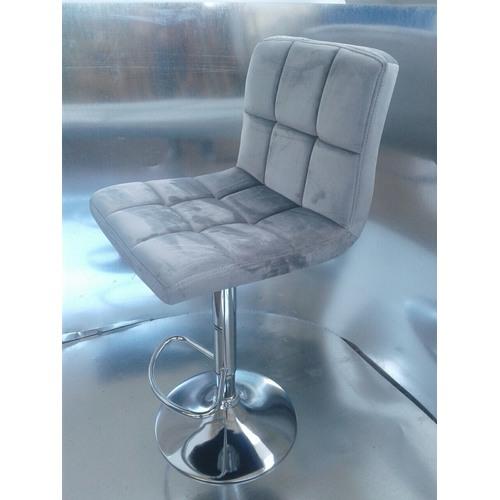 Стул барный HY 356-3 серый велюр Primel