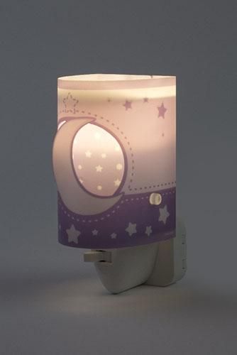 Ночник Moon Light 63235LL фиолетовый Dalber