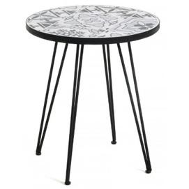 Стол кофейный Oswalda CC1219K60 черный Laforma 2019