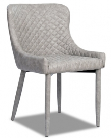 Кресло МС15 серый кожзам Peijan