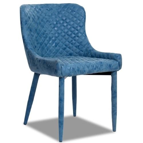 Кресло МС15 синий кожзам Peijan