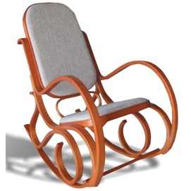Кресло качалка A-3002 серо-бежевая Peijan