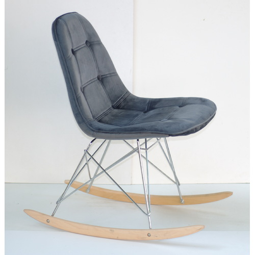 Кресло качалка Alex 9325 темно-серый бархат Thexata 2019