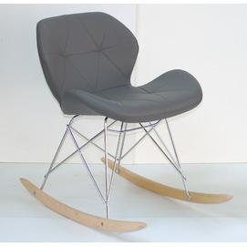Кресло качалка Invar 9349 темно-серая Thexata 2019