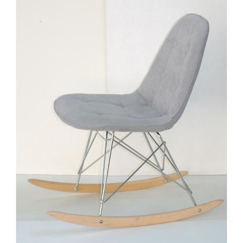 Кресло качалка Alex 9330 светло-серый шенилл Thexata 2019
