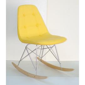 Кресло качалка Alex 9322 желтый кожзам Thexata 2019