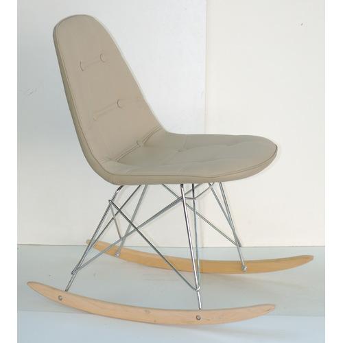 Кресло качалка Alex 9321 бежевый кожзам Thexata 2019
