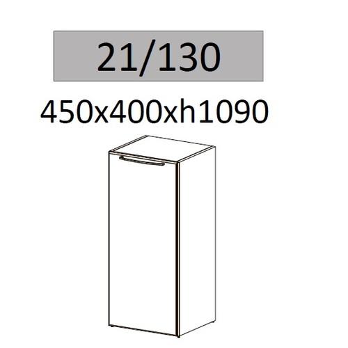 Тумба Альянс 21/130 Дуб беленый (45х40х109см) Sali