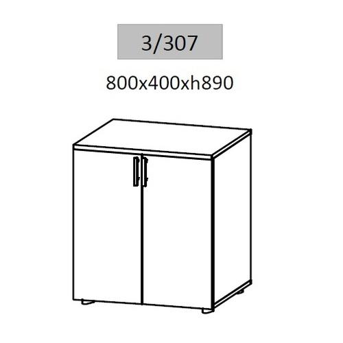Тумба для документов Гранд ДСП 3/307 (80х40х89см) Sali
