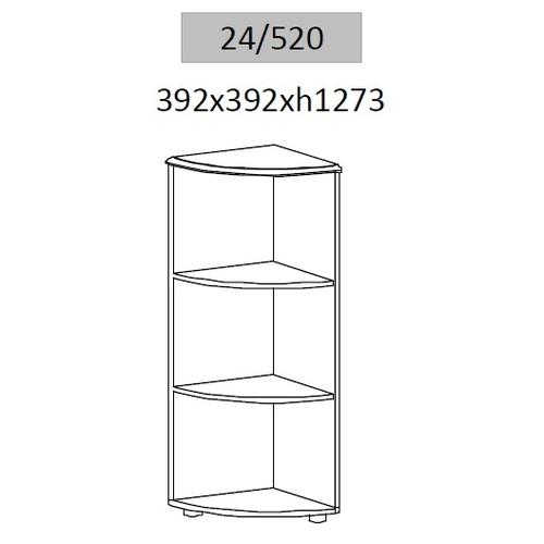 Стеллаж угловой Гранд МДФ 24/520 (39,2х39,2х127,3см) Sali