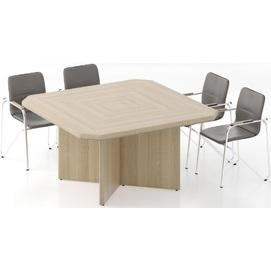 Стол для переговоров Альянс 21/115 Дуб беленый (150х150х76 см) Sali