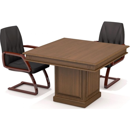 Стол для переговоров Классик 22/701 Орех (117х117х79см) Sali