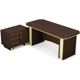 Стол руководителя Триумф Комплект-3 (180х80х76см) Венге Sali