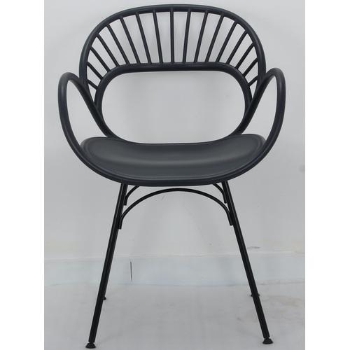 Кресло Flori черный 9096 Thexata 2020