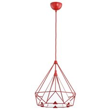 Лампа подвесная Tual 60415 красная Alfa