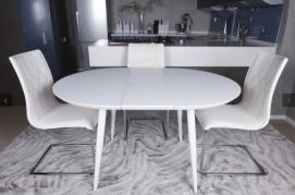 Стол обеденный раскладной GREENWICH белый Kolin 2019