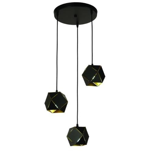 Люстра 7526686-3 BK черная Thexata 2020