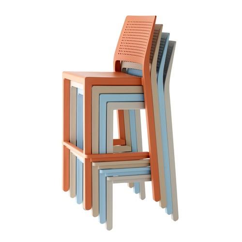 Стул полубарный EMI 2347 оранжевый SCAB Design