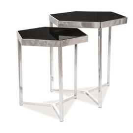 Набор столиков Milos серебро+черный Signal 2020