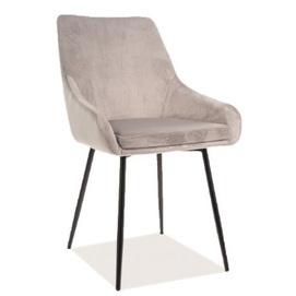 Кресло Albi Velvet светло-серое Signal 2020