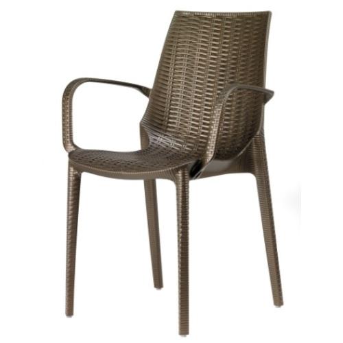 Кресло LUCREZIA 2322 коричневое SCAB Design