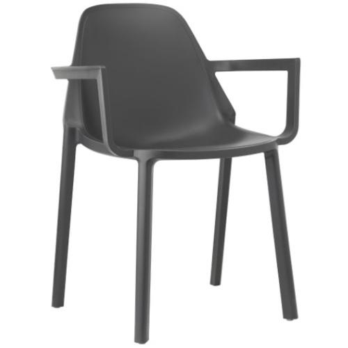 Кресло PIÙ 2335 антрацит SCAB Design