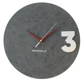 Часы Лофт бетон SS004759 серый Woodville 2020