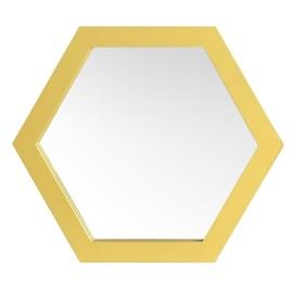 Зеркало Шестигранник 25 см SS004666 золото WilleWood