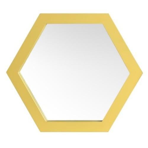 Зеркало Шестигранник 42 см SS004666 золото WilleWood