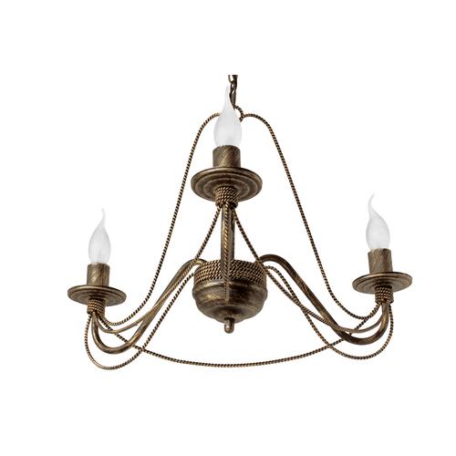 Люстра Косички на 3 лампы коричневый LiteKraft