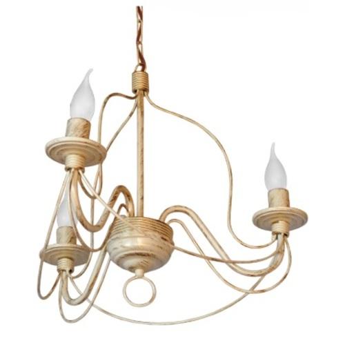 Люстра Коротков на 3 лампы бежевый LiteKraft