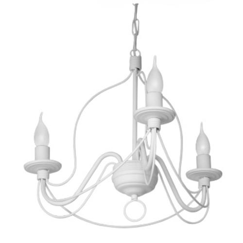 Люстра Коротков на 3 лампы белый LiteKraft