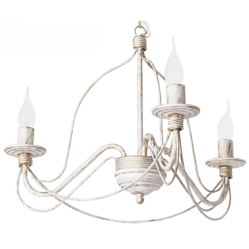 Люстра Коротков на 3 лампы бежевый+золото LiteKraft